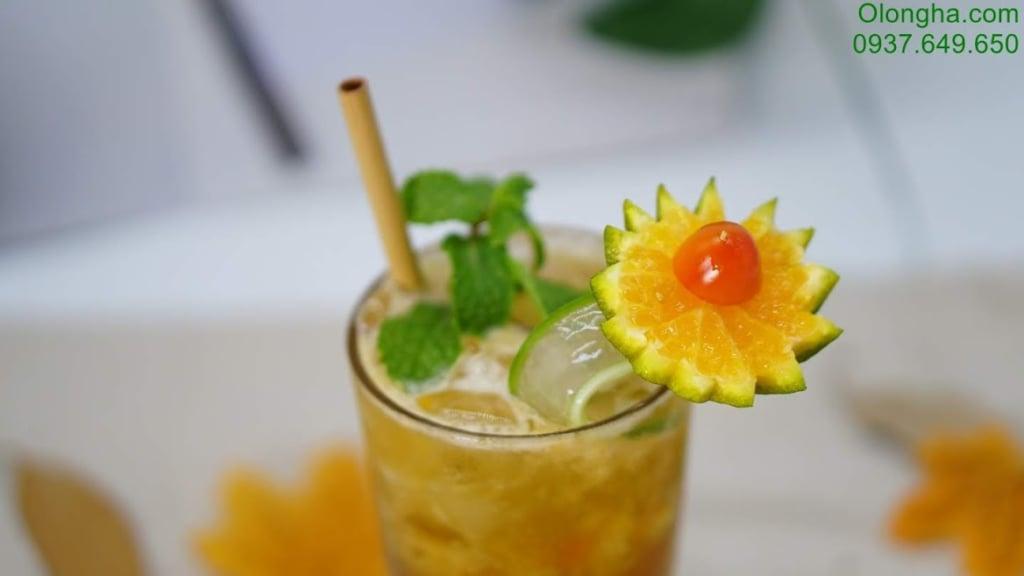 trà trái cây - trà cam nha đam