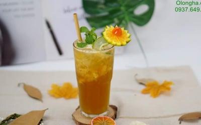 Trà cam nha đam trà trái cây